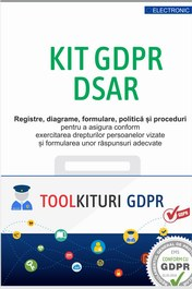Kit GDPR DSAR – 31 Politici si Proceduri, Registre, Diagrame, Documente obligatorii pentru conformarea la prevederile GDPR Art.12,15-22