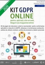Kit GDPR Site web ONLINE recomandat pentru Aplicatii, Site-uri web, Bloguri si Magazine online pentru conformitatea la Regulamentul EU 679/2016 si Legea 190/2018