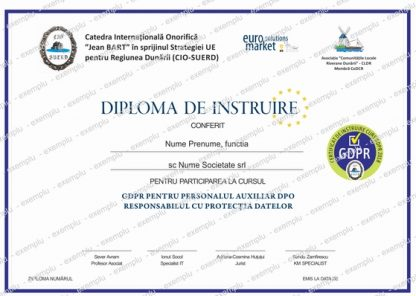 Kit GDPR curs certificare gdpr