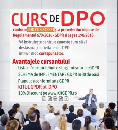 beneficii Curs DPO cod cor 242231
