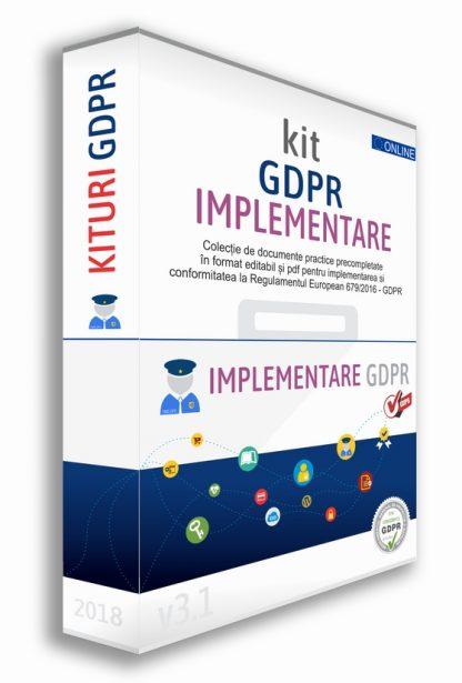 Kit GDPR toolkit box implementare