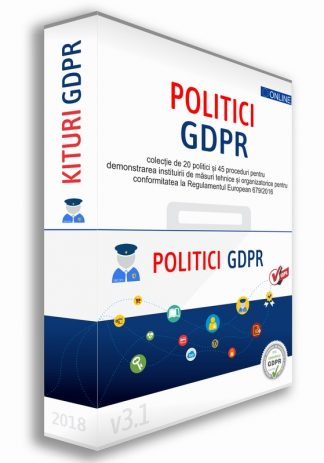Kit 20 Politici si 45 Proceduri GDPR