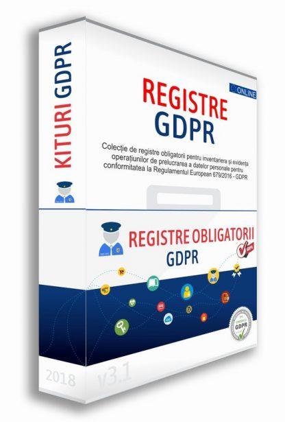Registre GDPR Jurnale evidenta operatiuni prelucrare date personale GDPR