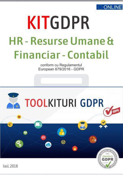 Kit GDPR toolkituriHR Resurse Umane Financiar Contabil
