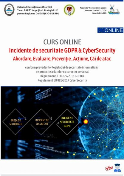 Kit GDPR coperta curs brese securitate gdpr si cybersecurity emag