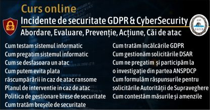 Kit GDPR curs brese si incidente securitate gdpr cybersecurity slide 2