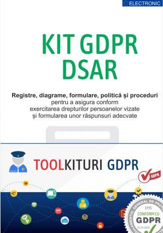 Kit GDPR DSAR - Registre, Diagrame, Politici si Proceduri obligatorii pentru conformarea la prevederile GDPR Art.12,15-22