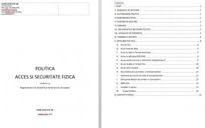 Kit GDPR kit gdpr dsar pol acces secuitate fizica