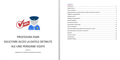 Kit GDPR kit gdpr dsar procedura
