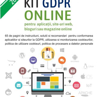 Kit GDPR Magazin ONLINE recomandat pentru Aplicatii, Site-uri web, Bloguri si Magazine online