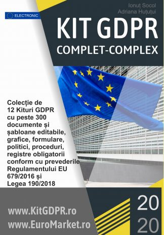 Kit GDPR COMPLET COMPLEX 2020 format din 12 Kituri GDPR - peste 300 documente + gratuit alte 145 documente si software gratuit