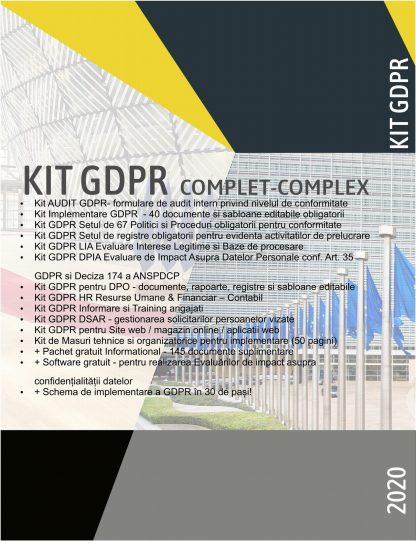 Kit GDPR COMPLET COMPLEX 2020 format din 12 Kituri GDPR - peste 300 documente + gratuit alte 145 documente si software gratuit