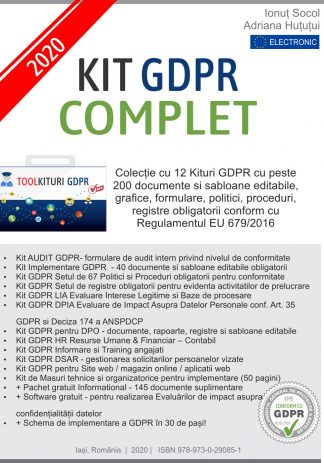 Kit GDPR Complet 2020 - 200 documente - 12 Kituri GDPR