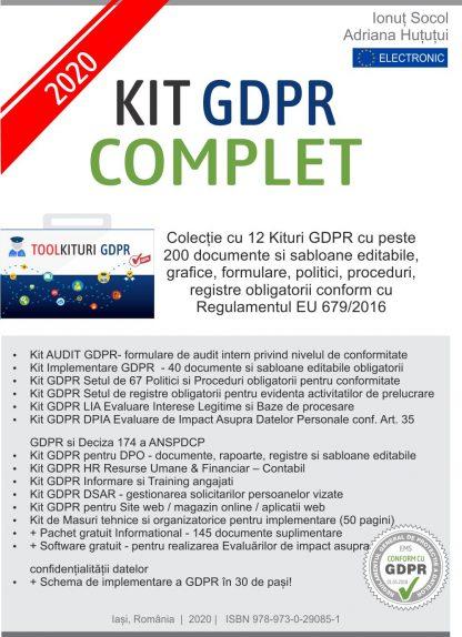Kit GDPR Complet 2020 - 200 documente - 12 Kituri GDPR
