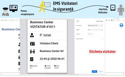 EMS Registru vizitatori in siguranta - Aplicatie Registrul de evidenta a vizitatorilor - angajatilor conform GDPR & Distantare sociala conform Legii 303, GDPR & Distantare sociala